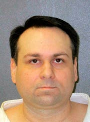 This undated photo provided by the Texas Department of Criminal Justice shows John William King. The white supremacist on Texas death row who orchestrated one of the most gruesome hate crimes in U.S. history faces execution for the infamous dragging death nearly 21 years ago of James Byrd Jr., a black man from East Texas. King is scheduled to receive lethal injection Wednesday evening, April 24, 2019.