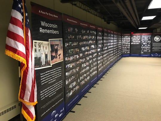 """""""Wisconsin Remembers: A Face For Every Name,"""" will be on display at the Marathon County Historical Society's  Woodson History Center through June 2."""