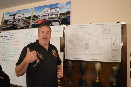 Bedford Fire Chief Andy Klein discusses plans for the new firehouse.