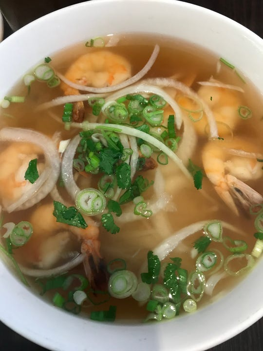 A bowl of shrimp pho is a must-try at Southeast Kitchen, a BYOB in Wilmington's Trolley Square.