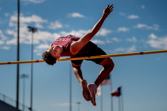 Vernon's Anthony Garza earned a third straight trip to state in the 4A high jump.