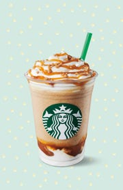 The Caramel Ribbon Crunch Frappuccino.