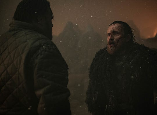 Watch out, Edd! Unfortunately, Dolorous Edd (Ben Crompton), right, has his guard down after saving the life of Samwell Tarly (John Bradley).