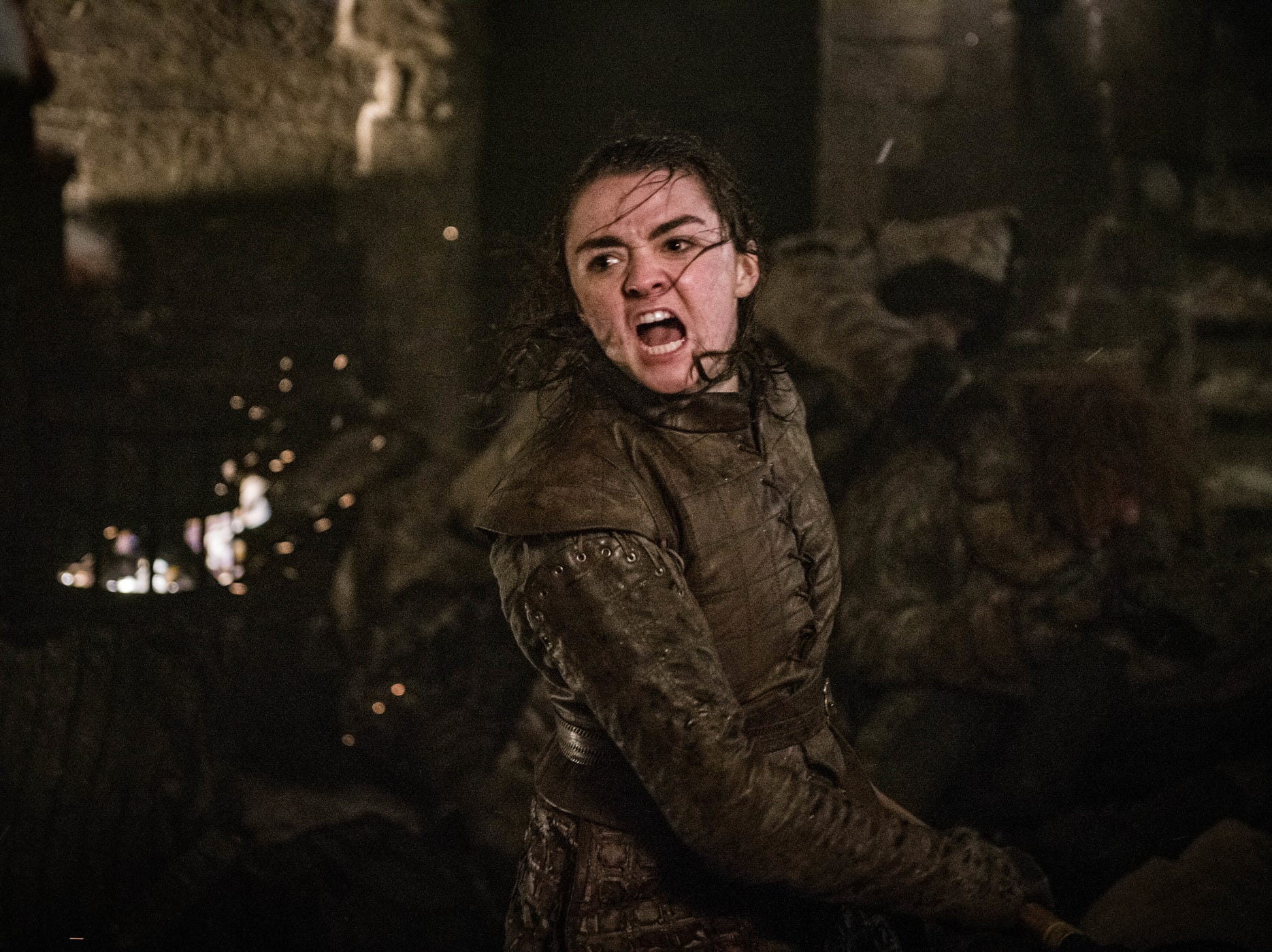 Arya Stark's (Maisie Williams) fighting skills and heroism were on full display in Sunday's episode, 'The Long Night.'