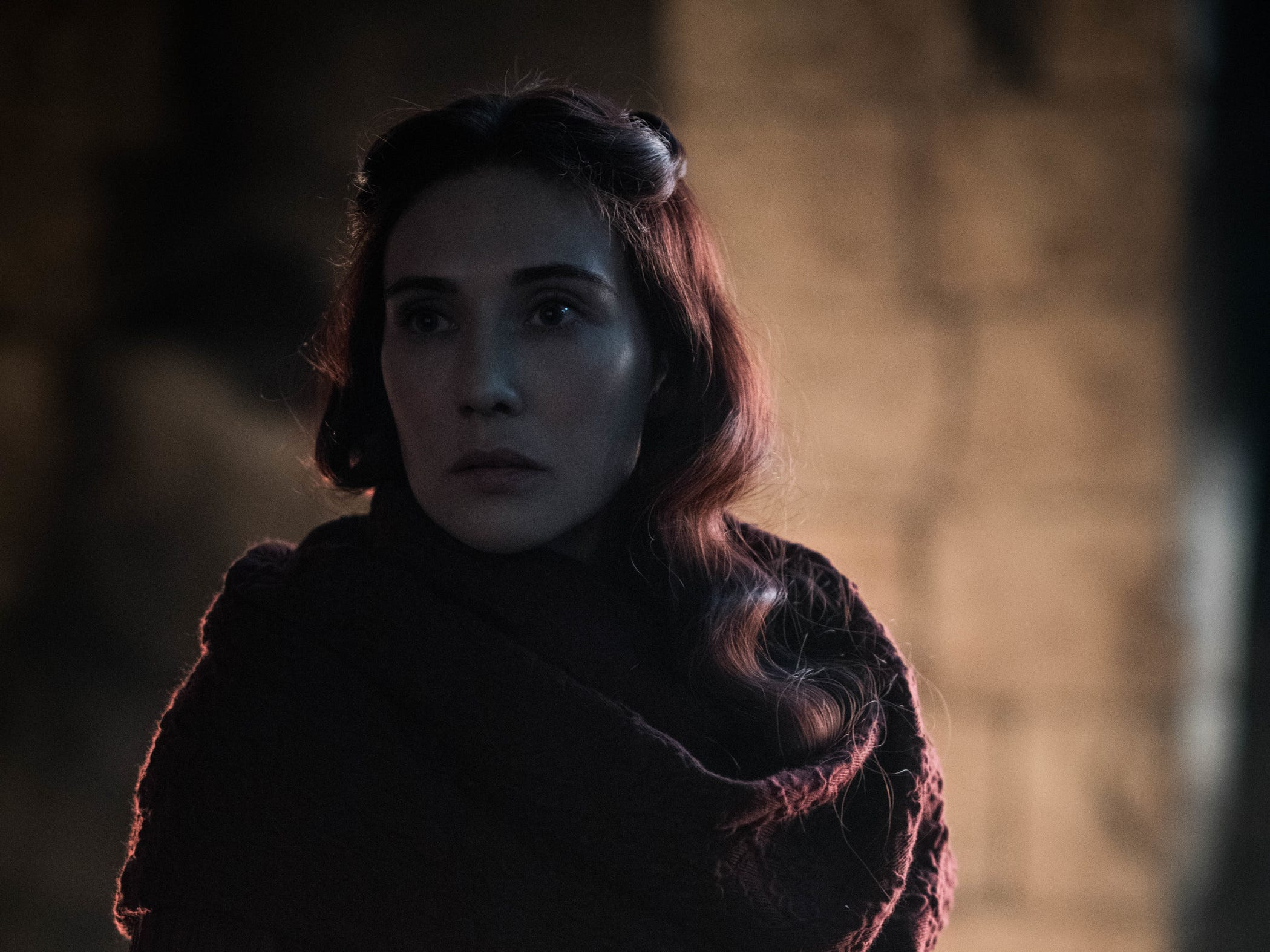 Red priestess Melisandre (Carice van Houten) made a dramatic and fateful return on Sunday's episode of 'Game of Thrones.'