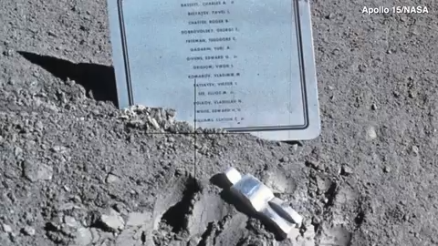 There's a tiny little sculpture up on the Moon that will break your heart