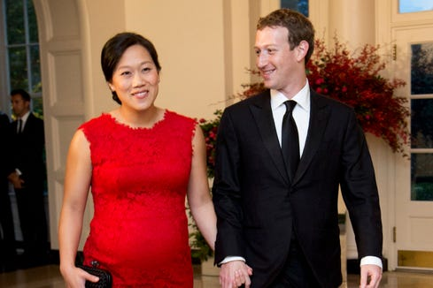 Image result for mark zuckerberg and wife