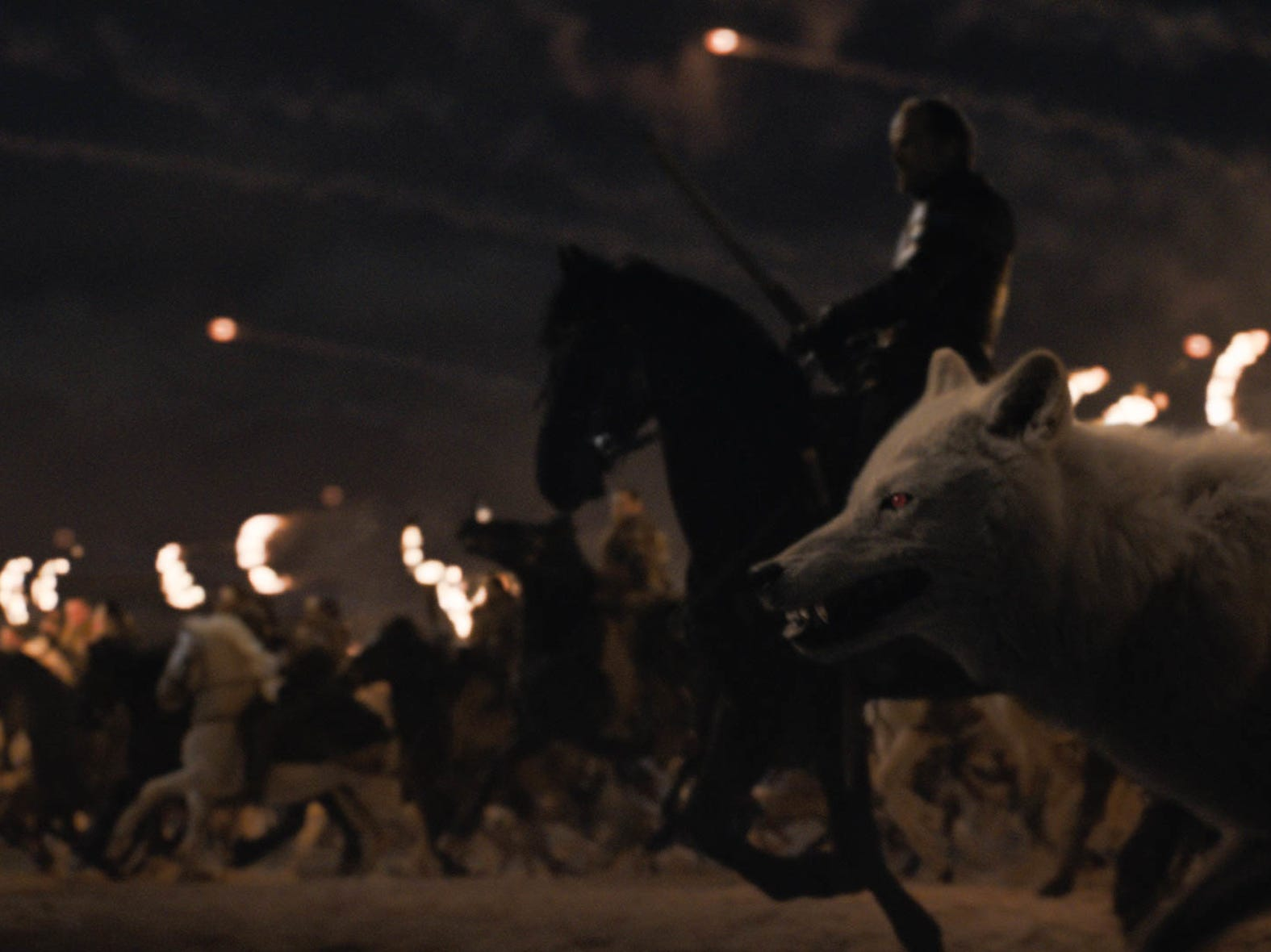 The Winterfell forces await the Night King's attack in Sunday's episode of 'Game of Thrones.'