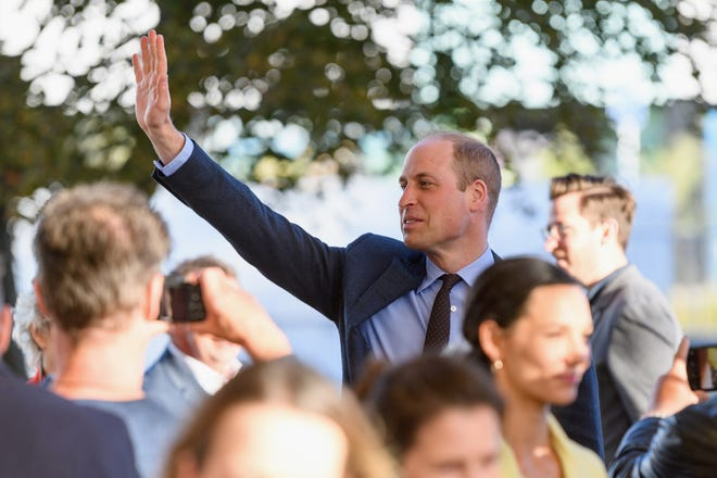 Prince William waves to the crowd after a walkabout at Oi Manawa Canterbury Earthquake National Memorial on April 26, 2019 in Christchurch, New Zealand.