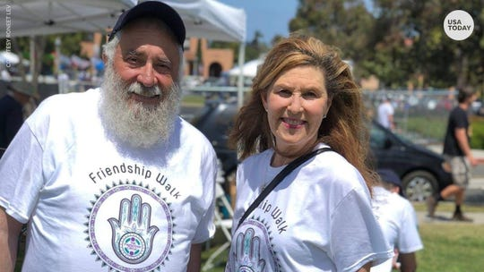 Lori Gilbert-Kaye died jumping in front of gunfire to protect members of the congregation, including Rabbi Yisroel Goldstein.