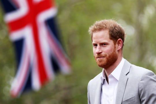 Prince Harry attended the Virgin Money London Marathon on April 28, 2019 in London.