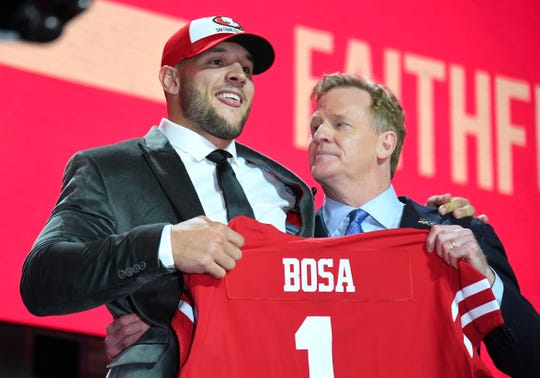 Nick Bosa went No. 2 overall to the 49ers.
