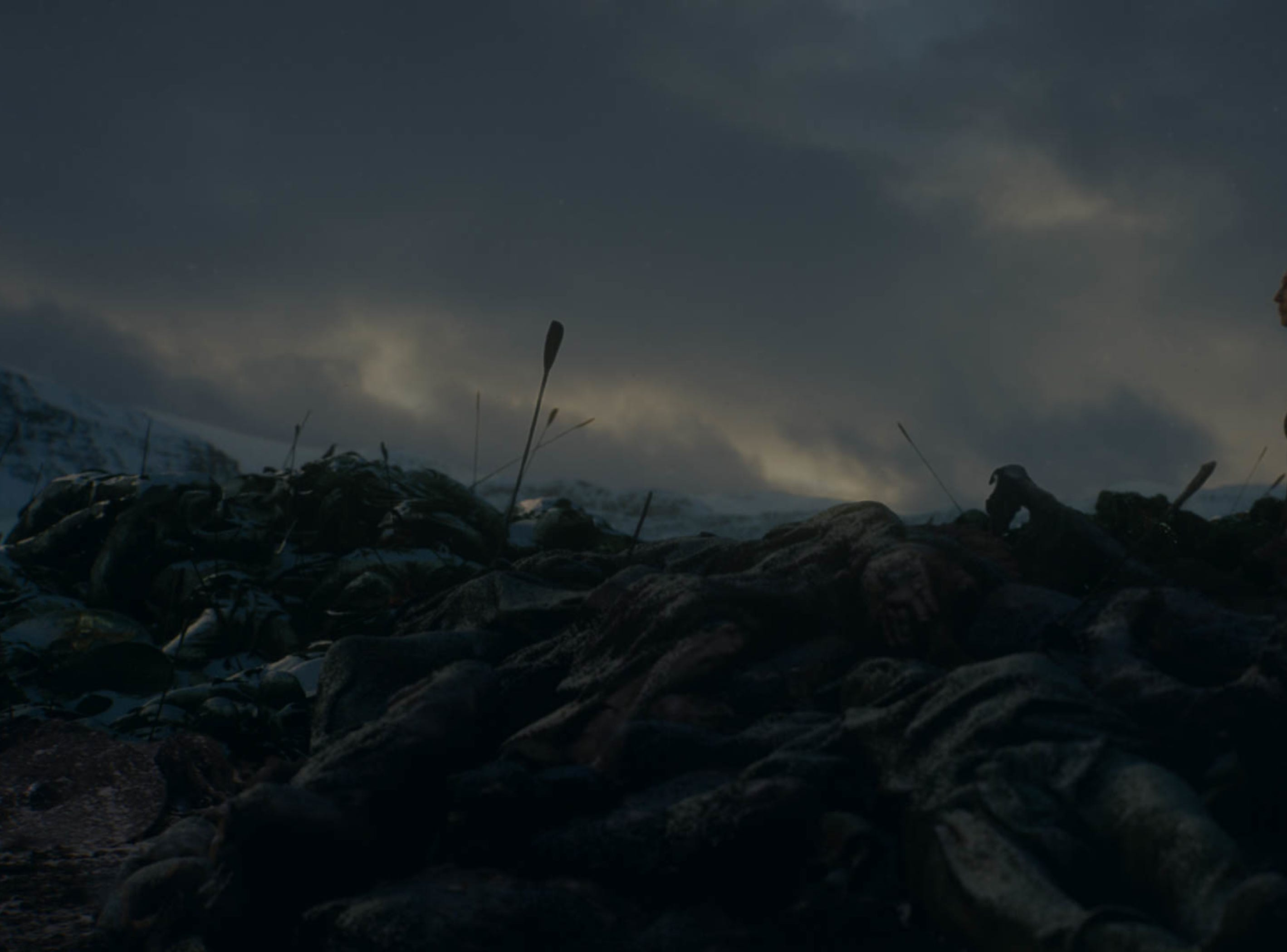 Her mission completed, Melisandre (Carice van Houten) leaves Winterfell on HBO's 'Game of Thrones.'