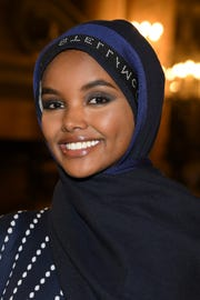 Model Halima Aden attends the Stella McCartney show during Paris Fashion Week Womenswear Fall/Winter 2019/2020 on March 4, 2019.