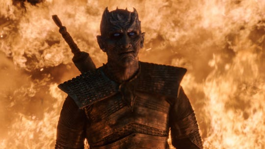 The Night King (Vladimir Furdik) can't be stopped by flames, but he still hasn't seen the full forces of the Starks & Co.