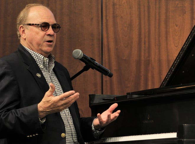 """Chris Christian told the stories behind his songs recorded by others and the ground-breaking albums he produced at a community luncheon Tuesday at Abilene Christian University. One song was """"Love Song of the Year,"""" recorded by Elvis Presley."""