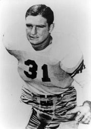Abilene High's Ellis Jones went on to be an All-American at Tulsa and was drafted by the Boston Yanks in the 1945 NFL draft. Jones is one of the 2019 Bill Hart Memorial Legends Award recipients at this year's Big Country Athletic Hall of Fame induction ceremony on May 6.