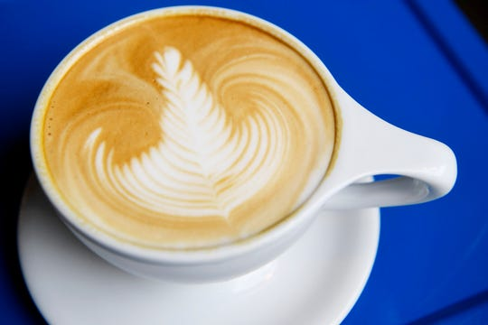 A latte from Vortex Doughnuts on the South Slope in Asheville April 25, 2019.