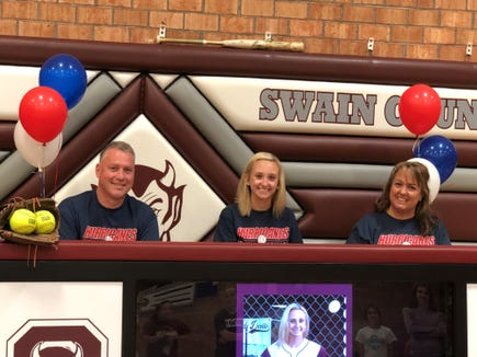 Swain County senior Kendall Bowers signed Monday with Louisburg College.