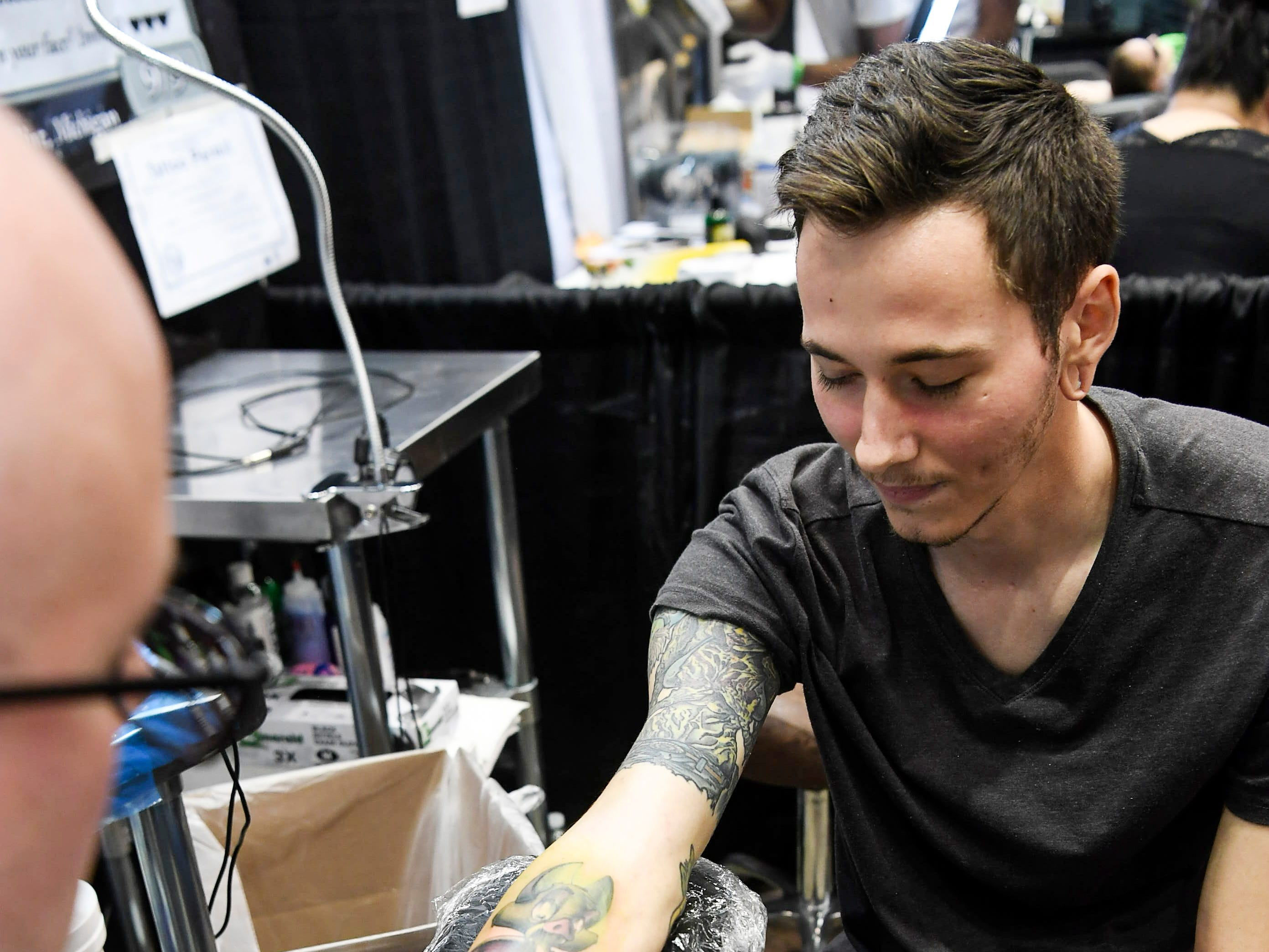 Scenes from the Asheville Tattoo Convention at the US Cellular Center April 28, 2019.