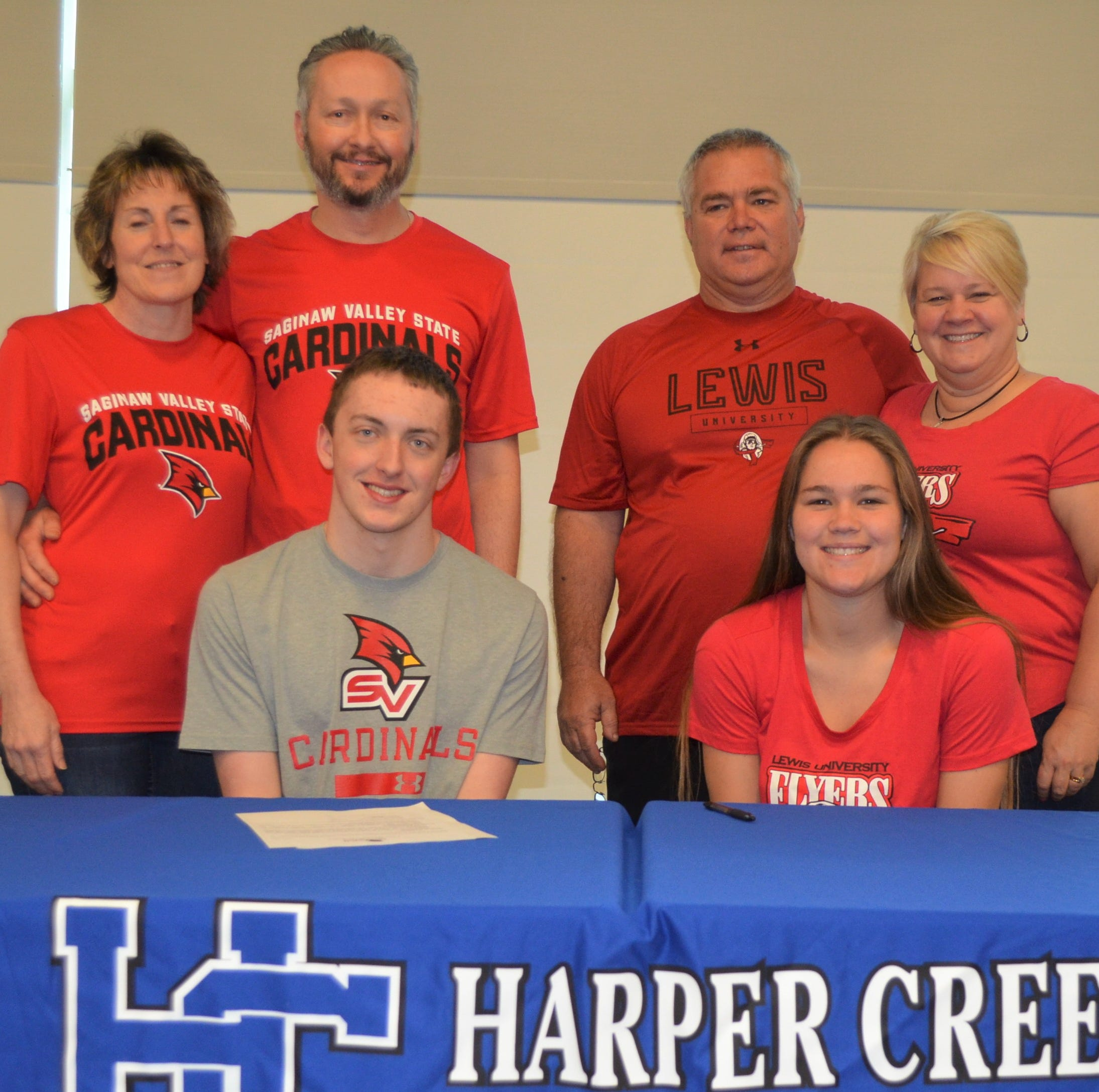 Harper Creek's Piper, Coon sign National Letters of Intent to compete in college