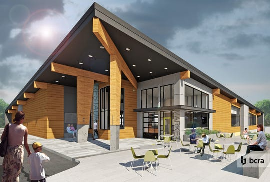 A rendering of Maynard's, a restaurant, market and event space scheduled to open on Bucklin Hill Road in August.