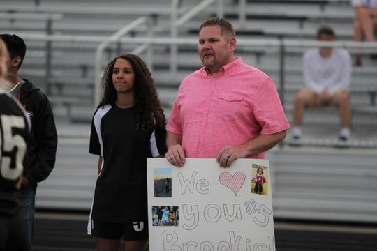 Brooklyn Roland was one of six seniors recognized on April 29 when the Warlassies extended their Western Highlands Conference winning streak to 19 games with a 3-0 win over Madison on senior night.