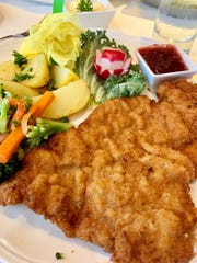 Wiener Schnitzel at Heidelberg Restaurant in downtown Cocoa Beach was perfect: high-quality veal, pounded very thin, breaded, pan-fried and served with lemon, as it should be.