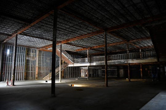 "The old Montgomery Ward Building's first floor is planning on being used for commercial space, as seen photographed here, Tuesday, April 30, 2019. Bill Hoover says that the building will ""bring lots of traffic and a lot of people which is what downtown needs."""