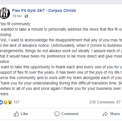 Corpus Christi Lawyer: State didn't order Flex Fit to close its locations