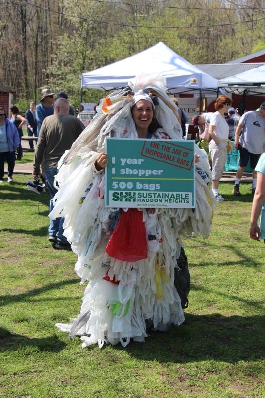 See how much waste using single use plastic bags can create in a year at the Sustainable South Jersey Earth Festival.