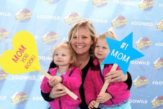 Moms get a fun photo op as part of the Mother's Day celebration at Morey's Piers in Wildwood.