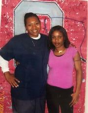 Dnanekai Terrell (left) with a friend.