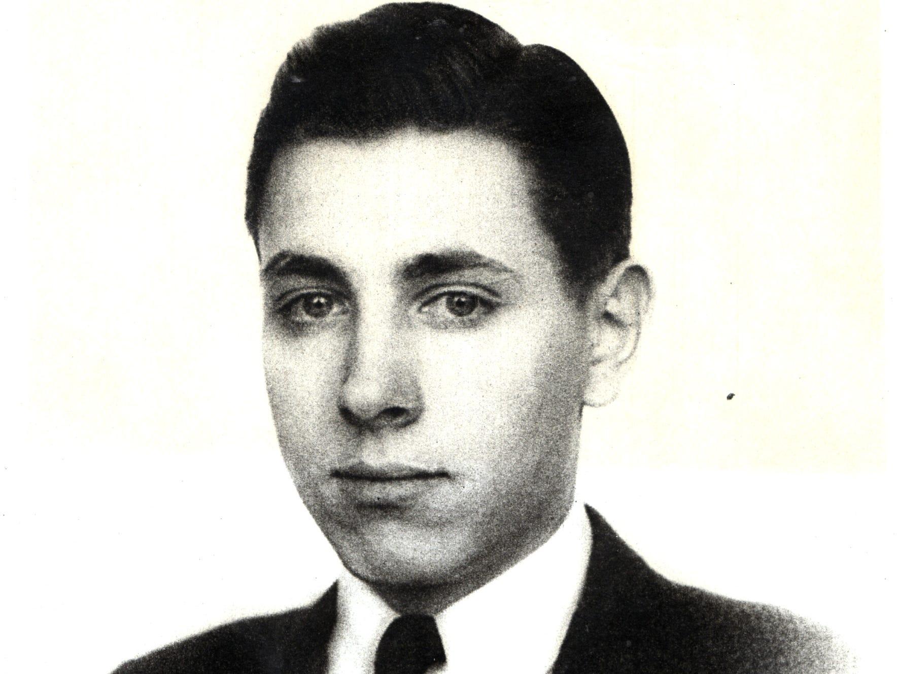 John David Laida Jr. during his time at Skaneateles, N.Y., High School, class of 1936.