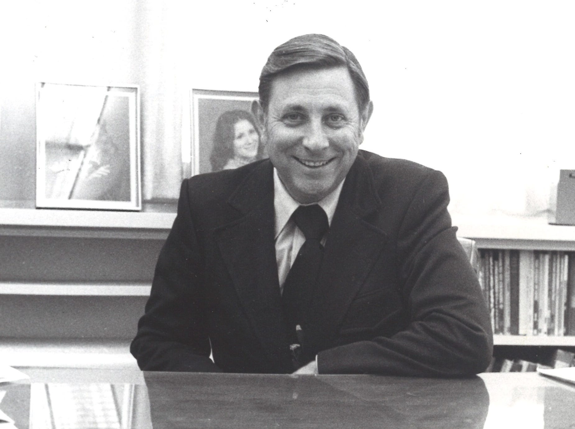 Pastor John Laida in his office at First Baptist Church.