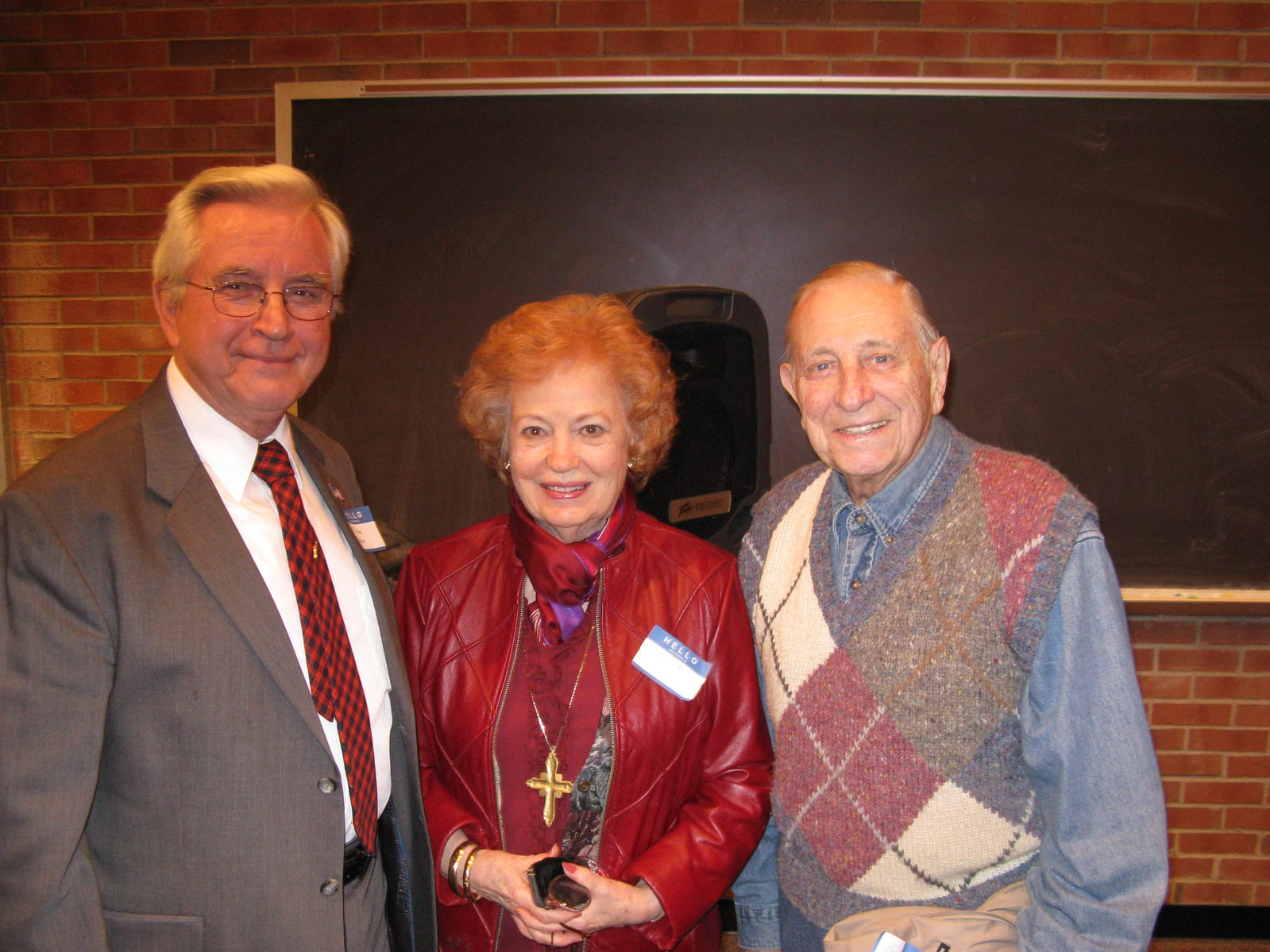 William T. Turner of Hopkinsville, left, with Elizabeth Laida and John David Laida at a meeting of the Montgomery County Historical Society.