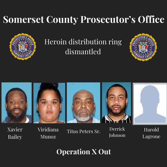 Heroin drug bust results in five Central Jersey arrests.
