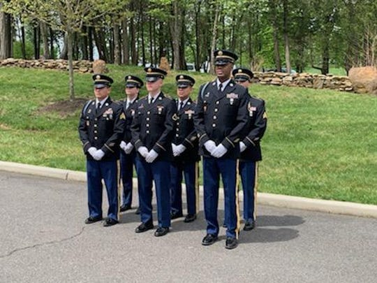The burial for U.S. Army Sgt. Frank J. Suliman of Edison who died as a prisoner-of-war during the Korean War  was held Tuesday at Brigadier General William C. Doyle Memorial Cemetery in Burlington County.