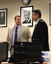Joseph Reiman (left) and his attorney Charles Sciarra.