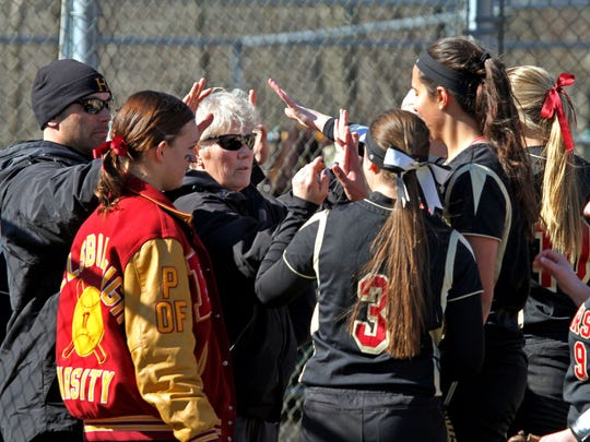 Cheryl Iaione earned her 400th win as softball coach at Hillsborough High School, with a victory over rival Montgomery on Monday.