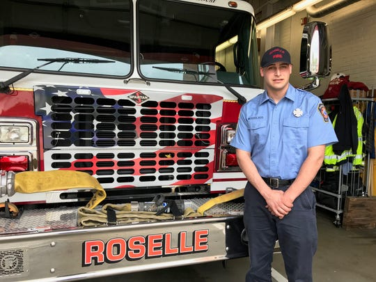 Zach Weissglass, a Roselle firefighter who is being honored by the 200 Club of Union County.