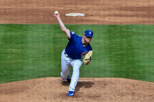 Pitcher Rowan Wick is in his first season with the Cubs organization.