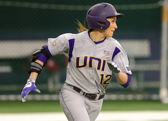 Micalla Rettinger is seen during a 2016 game for the University of Northern Iowa.