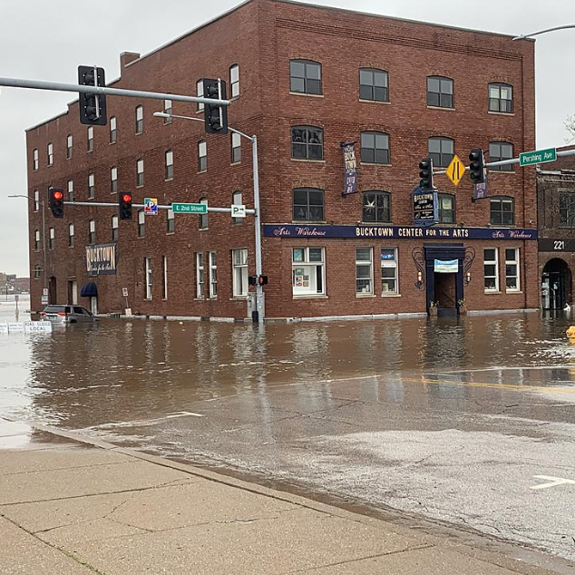 After a portion of Davenport's downtown floods, officials monitor infrastructure 'minute by minute'