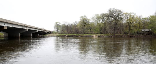 This view shows the U.S. Highway 218 bridge over the Cedar River on Monday, April 29, 2019, in Waterloo, Iowa. A woman was fatally shot as she drove the stretch of 218 on Sunday, April 28.