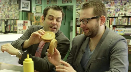 "Jamie Elman and Eli Batalion in ""Chewdaism."""