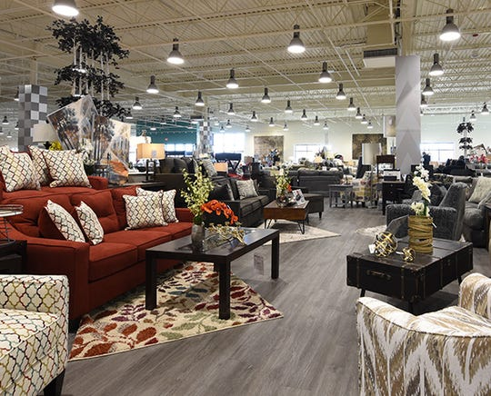 The showroom of Bob's Discount Furniture in Grand Rapids.