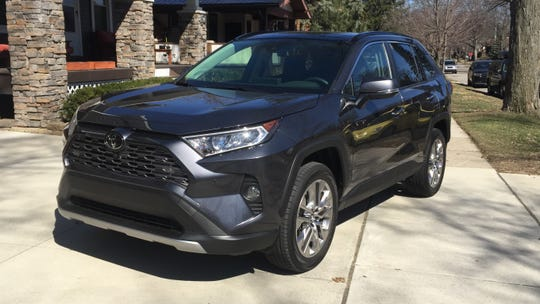 The 2019 Toyota RAV4's styling echoes the looks of  rugged off-roaders.