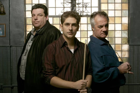 "Steven Schirripa, Michael Imperioli and Tony Sirico during the 2006-07 season of ""The Sopranos."""
