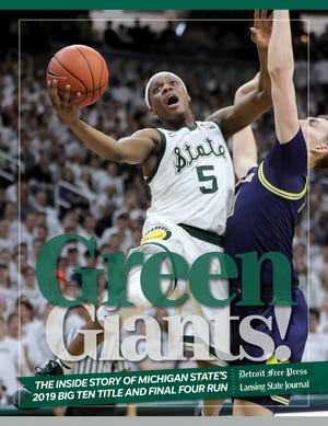 "The cover for the Detroit Free Press and Lansing State Journal's e-book on Michigan State's 2019 Final Four run, ""Green Giants!"""